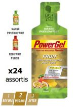 Boite 24 Sachets PowerBar PowerGel Fruits Assortis 41gr
