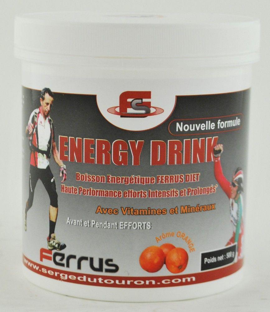 Boîte 500g Ferrus`Diet Energy Drink Vitamines&Minéraux - New Formule