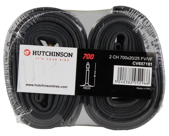 Chambres à Air Hutchinson Butyl 700x20/25 Valve 48mm - Lot de 2