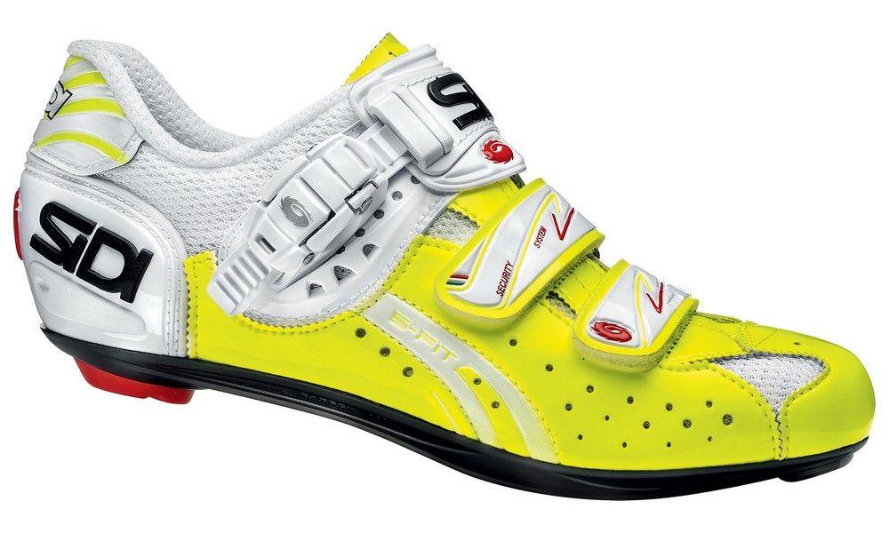 Chaussures Sidi Genius 5 Fit Carbon Fluo Verni New 2014