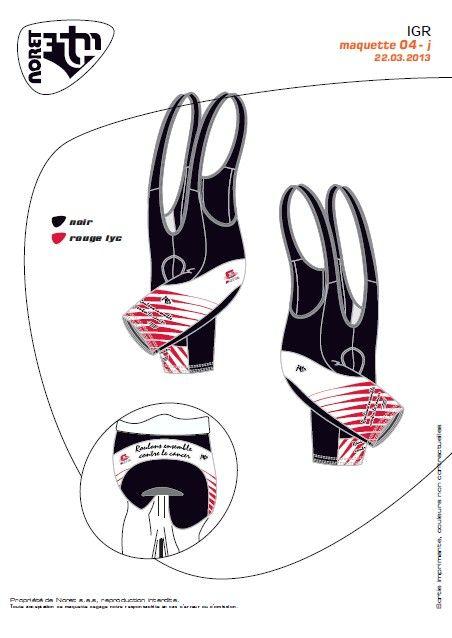 Cuissard `Roulons Ensemble Contre Le Cancer` Rouge