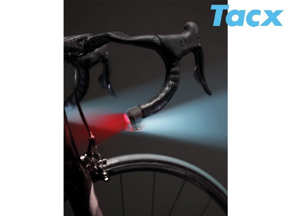 Eclairage Tacx T4100 Lumos Av & Ar Embouts de Cintres - Paire