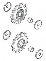 Galets Shimano M593 SLX & Deore 9/10v - Paire