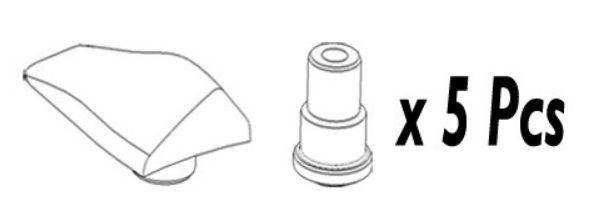 Kit de 5 Caches TA Compatible Shimano Ultegra