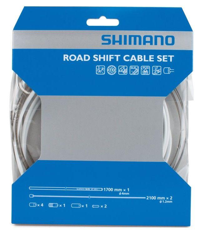 Kit Shimano Revêtement en PTFE Gaines Couleur + Cables Dérailleur