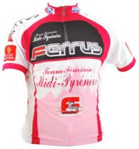 Maillot MC Ferrus Team F�minin Midi-Pyr�n�es Zip Int�gral