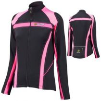 Maillot ML Inverse Fit SuperRoubaix Dame Noir/Rose 2015