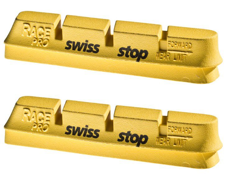 Patins SwissStop Race Pro Campa - Yellow King (Jante Carbone) - Paire