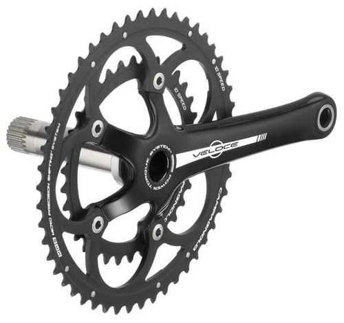 Pedalier Campagnolo Veloce Noir Compact P.T. Alu 10v ss Cuv.