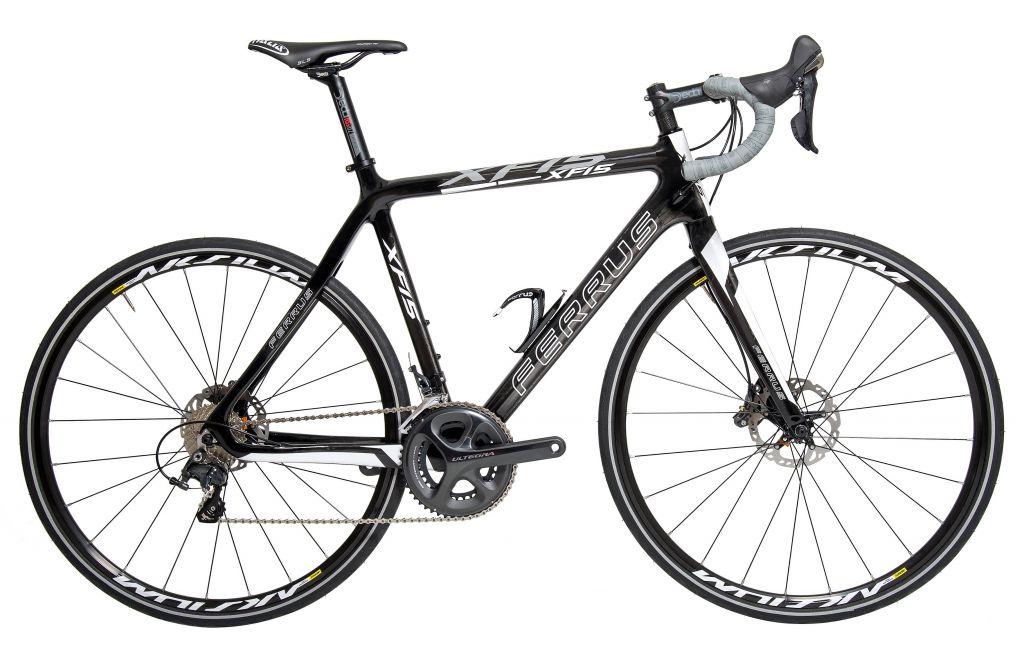 Vélo Ferrus XF15 Carbone Noir à Disques Route - Shimano Ultegra 6800