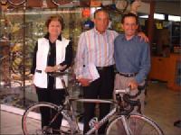 M. et Mme José ALVAREZ<br>à Castelferrus avec Serge Dutouron.