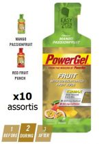 Assortiment 10 Sachets PowerBar PowerGel Fruits 41gr
