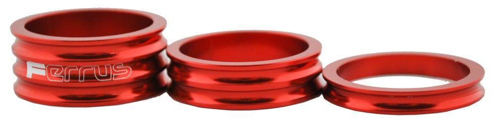 Bague Ferrus Alu Rouge 1` 1/8