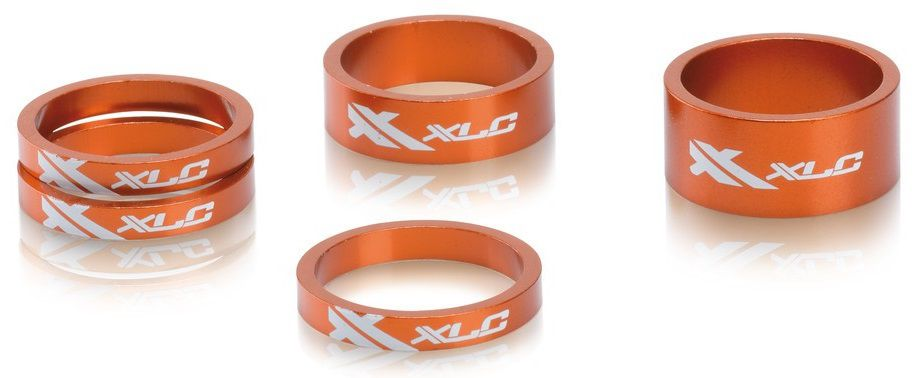 "Bagues Direction Alu XLC AS-A02 1""1/8 : 3x5mm - 1x10mm - 1x15mm"