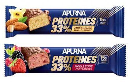 Barre 45g HyperProtéinée Apurna Proteines 33% Moelleuse