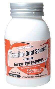 Boite 120 Gélules Créatine Dual Source + Taurine Fenioux 710mg