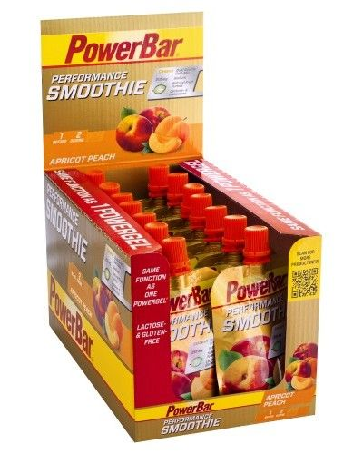 Boite 16 Gourdes PowerBar Performance Smoothie 90g - Compote