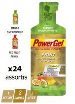 Boite 24 Sachets PowerBar PowerGel Fruits Assortis 41gr