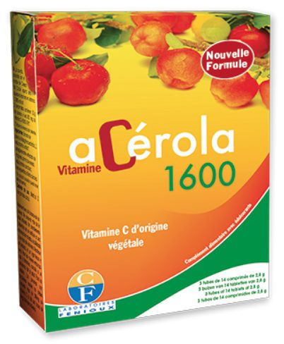 Boite 3 Tubes Comprimés Fenioux Acerola 1600 - Nouvelle Formule