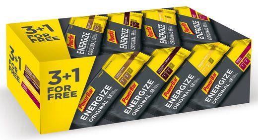 Boîte 4 barres Powerbar Energize C2 Max Original 55g Assorties