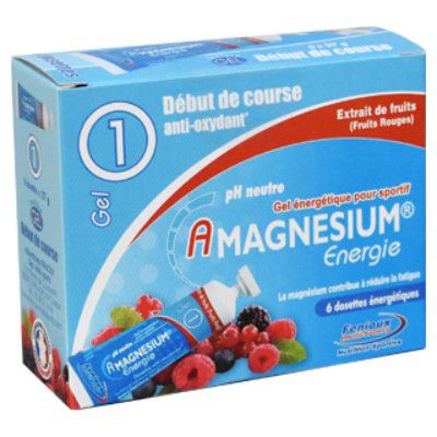 Boite 6 Dosettes 27g Gel Amagnésium Energie Fenioux Anti-oxydant