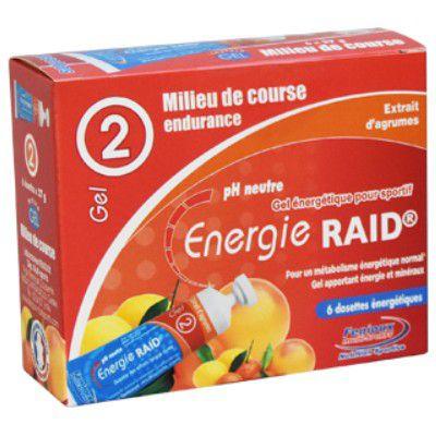 Boite 6 Dosettes 27g Gel Energie Raid Fenioux - Milieu de Course
