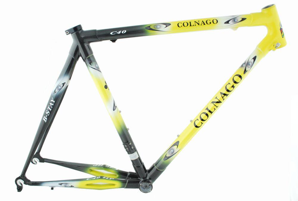 Cadre Colnago C40 Hp B-Stay 2003 T.53S/C sans Fourche 1` Nl14 Jaune