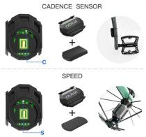 Capteur 2 en 1 Vitesse + Cadence Cycplus Sensor C3