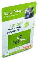 Carte Département France au 1/25000 pour GPS TwoNav