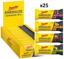 Carton de 25 Barres PowerBar Energize ADVANCED Assorties 55g