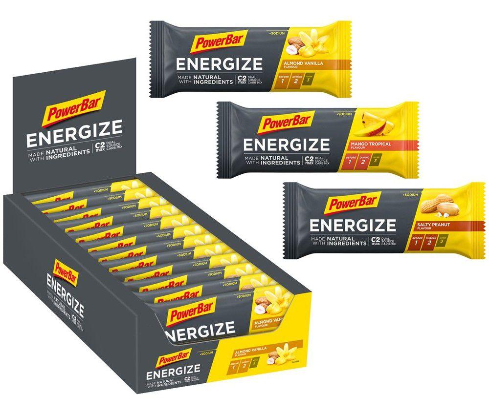 Carton de 25 Barres PowerBar Energize NATURAL