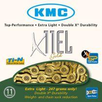 Chaîne KMC X11EL Or 11v + Attache Rapide