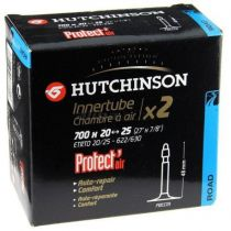 Chambre à Air Hutchinson Butyl 700x20/25 Protect\'Air Valve Presta 48mm - Lot de 2