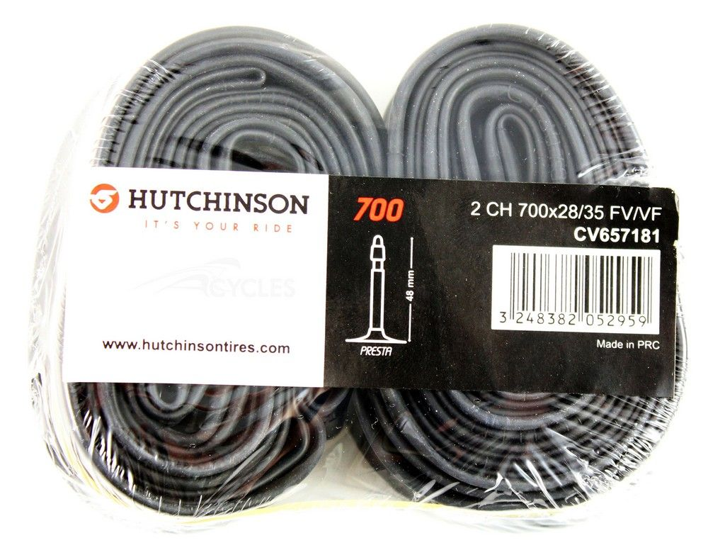 Chambre à Air Hutchinson Butyl 700x28/35 Cross v.Presta 48mm-Lot de 2