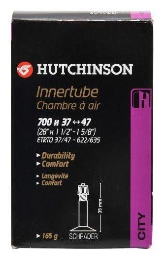 Chambre à Air Hutchinson Butyl 700x37/47 Cross Valve Shrader 32mm