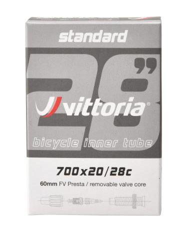 Chambre à Air Vittoria Standard 700x20/28 - Valve Filetée/Obus Démontable