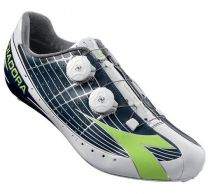 Chaussures Diadora Vortex Pro Movistar Blanc/Vert - Super Promo