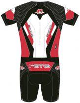 Combinaison Cycliste Ferrus Connexion Noir/Rouge MC - 1 Poche Zippée
