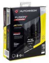 Combo Pack : 2 Pneus Hutchinson Fusion 5 All Season Tubeless Ready 700x28 + Protect\'Air 120ml + 2 Valves 42mm + Rouleau