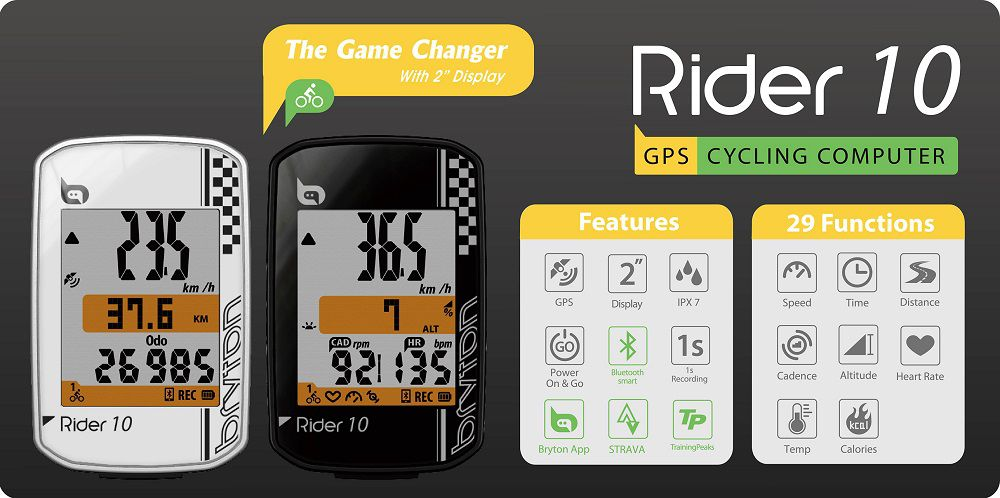 Compteur Bryton Rider 10 E - New 2018