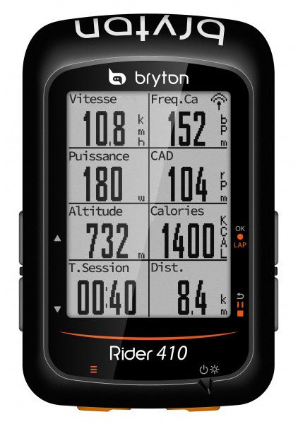 Compteur Bryton Rider 410 T (avec Cadence & Cardio) - New 2019