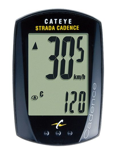 Compteur Cateye Strada avec Cadence CC-RD200 Filaire - 9 Fonctions - Mini:45x30mm