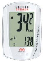 Compteur Cateye Strada Double Wireless CC-RD400DW avec Cadence - 9 Fonctions - Mini:45x30mm