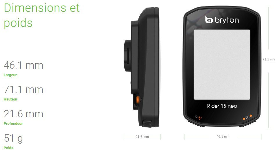 Compteur GPS Bryton Rider 15 Neo E