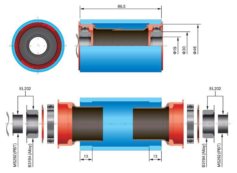 Cuvettes FSA Réducteur de 30 à 19 pour Sram GXP 386 - Réf.200.3222