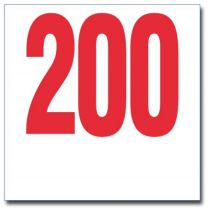 Dossard Tyvek Rouge - 20 x 20