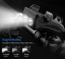 Eclairage Avant 400 Lumen & Arrière FS Bicycle Horn Lamp + Support Smartphone
