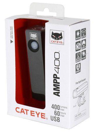 Eclairage Avant Cateye AMPP 400 Réf. HL-EL084RC  - 400 Lumens