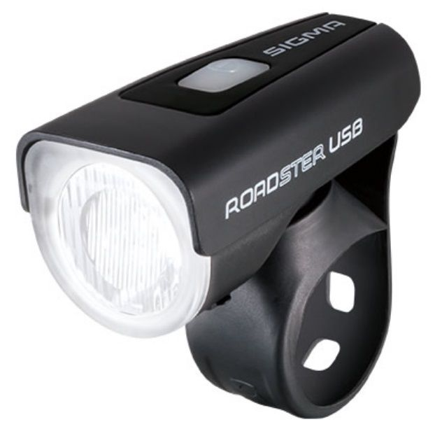 Eclairage Avant Sigma Roadster Light USB 25 Lux Noir