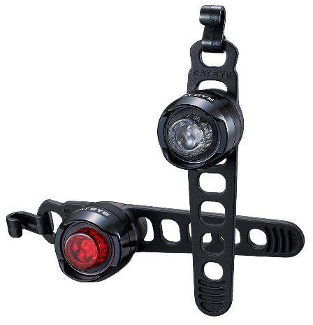 Eclairages Avant & Arrière Cateye Orb Rechargeable USB Réf. SL-LD160RC-F/R Black